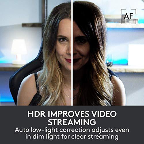 Logitech Brio Ultra HD Pro Webcam, 1080p/60fps Hyper-Fast Streaming, Wide Adjustable Field of View, 5X Zoom, Works with Skype, WebEx, Cisco Jabber, Zoom, Windows Hello, PC/Mac/Laptop/Chrome - Black