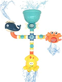 crayfomo Baby Bath Toy - Toddlers Bathtub Toys Waterfall Water Station Castle with Stacking Cups Shower Bath Game for 1 2 3 4 5 Years Old Boys Girls
