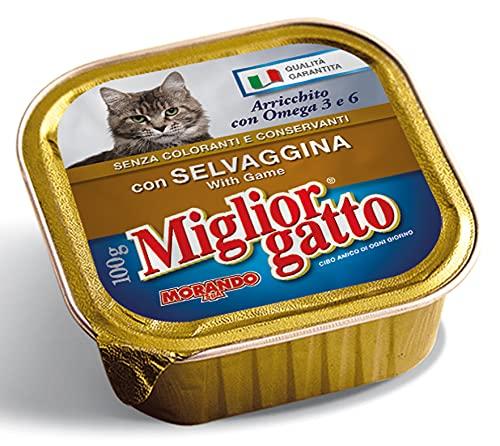 Lot de 32 meilleurs chats 100 g. Humide Selvaggina Nourriture pour chats