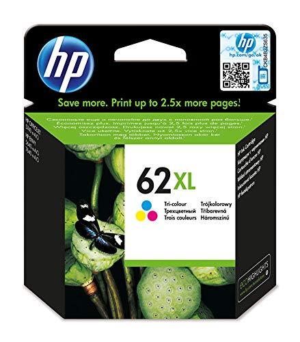 HP C2P07AE 62XL High Yield Original Ink Cartridge, Tri-color, Single P