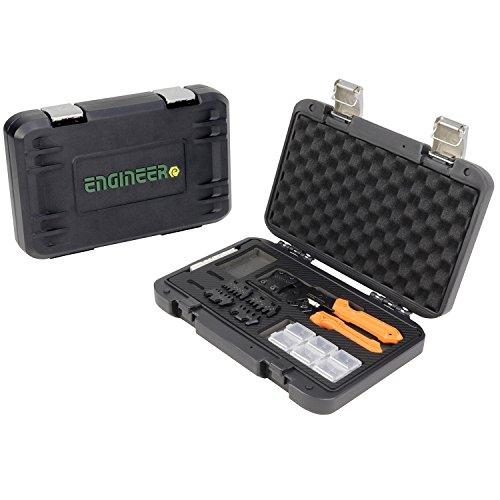 ENGINEER Pad-02 - Kit de herramientas de crimpado de precisión, color naranja