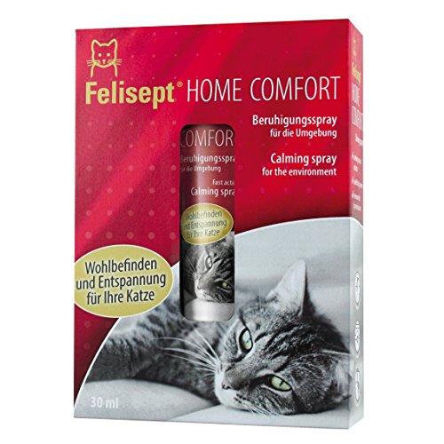 Quiko 250805felisept Home Comfort beruhigung Spray/Entorno Spray con pflanzlichem beruhigung Medio & Natural Gato Menta para Gatos/Aumenta Bienestar & Relajación, 30ml