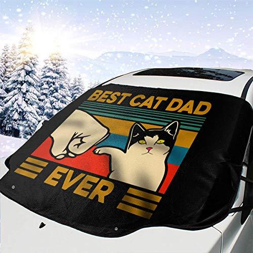 Best Cat Dad Foldable Durable Windshield Sun Shades – Universal Fit for Car Auto Sedan Truck SUV 147118cm