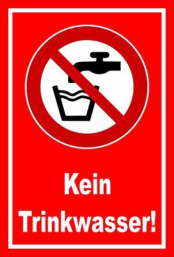 Melis Folienwerkstatt sticker schild - geen drinkwater - S00355-015-D