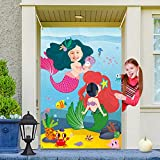 Ticiaga Mermaid Princess Photo Door Banner, Large...