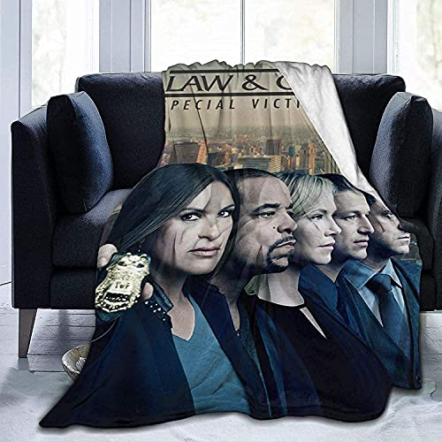 Law & Order Blanket, The Theme of popularism, 100% Microfibre Fleece Flannel Blanket Cozy Lightweight Plush Blanket for Sofa Bed Couch Travel Living Room for Adults Kids All Season