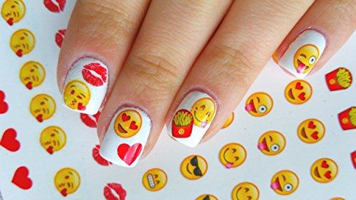 Emoji Nagel Kunst Emoji Nail Art Decals Collection c3