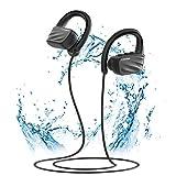 Écouteur Bluetooth, LIFEBEE IPX7 Étanche Oreillette Bluetooth Sport HiFi Stéréo Ecouteurs sans Fil Antibruit Oreille pour Sport, Gym, Jogging, Natation