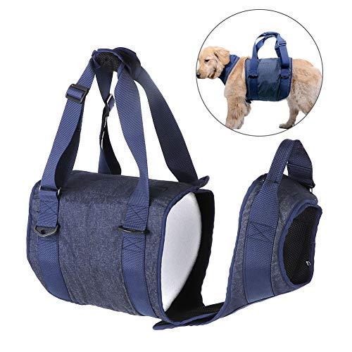 Tragehilfe für Hunde, Hunde Gehhilfe Hundegeschirr Hunde Rehahilfe Weste Verstellbarer Brustgeschirr Tragehilfe für Hunde Zurück Beine Pet Rehabilitation Assist (L)