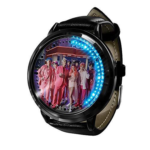 Kpop BTS Bangtan Boys regalo caldo orologio da polso impermeabile touch screen orologio da polso digitale unisex con luce digitale-A11