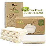 100% Organic Baby Washcloths- Premium Baby Muslin washcloths, Hand Towels, Baby Burp Cloths for Newborn- Soft Baby Wash Cloth and Muslin Washcloth for Sensitive Skin- 10+2 Pack 12x12 Inches (Beige)