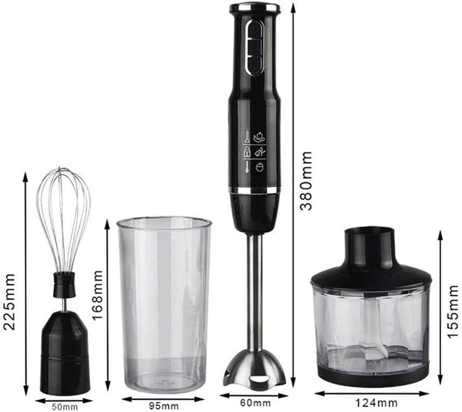 Staafmixer Stick Krachtige Immersion Portable Blender 4 in 1 Set for De keuken zwaait Beaker Juicer Mixer (Color : 4 in 1 blender) Host cooking cup