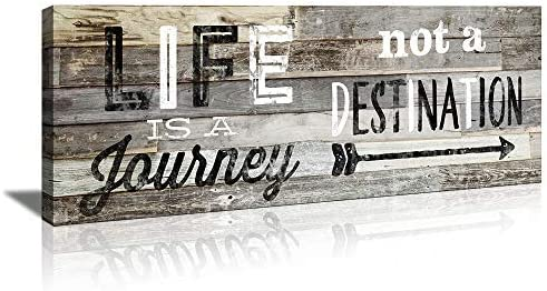 KuyiArt Family Decorative Signs Life is A Journey Inspiration Motto Wall Art Canvas Prints Poster product image