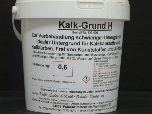 Kalkgrund H. Grundierung für schwierige Untergründe. 600g/26qm