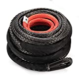 Synthetic Winch Rope 3/8' x 85' - 25000 Ibs Winch Line Cable Rope with Protective Sleeve for 4WD Off Road...