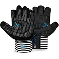 Weight Lifting Gym Workout Gloves with Wrist Wrap Support