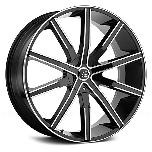 """VCT V80 Сustom Wheel - Machined Black with Machined Face 20"""" x 9"""", 30 Offset, 6x135 Bolt Pattern, 87.1mm Hub"""