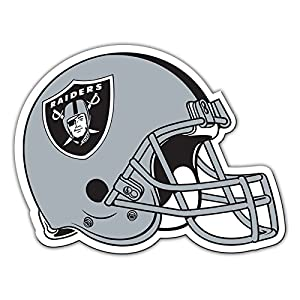"Fremont Die Consumer Products NFL Shop Authentic 12"" Magnet Team Banner Helmet/Logo (Oakland Raiders)"