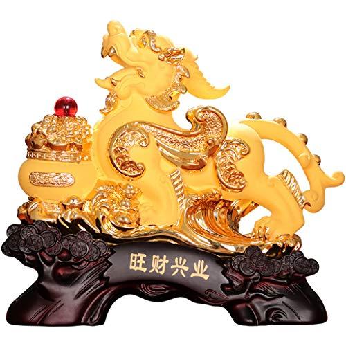 jinyi2016SHOP Feng Shui Estatuas Regalos de Apertura Feng Shui Pi Yao/Pi Xiu Riqueza Porsperity Estatua Decoración Sala de Estar Casa Oficina Decoraciones Riqueza Estatuilla