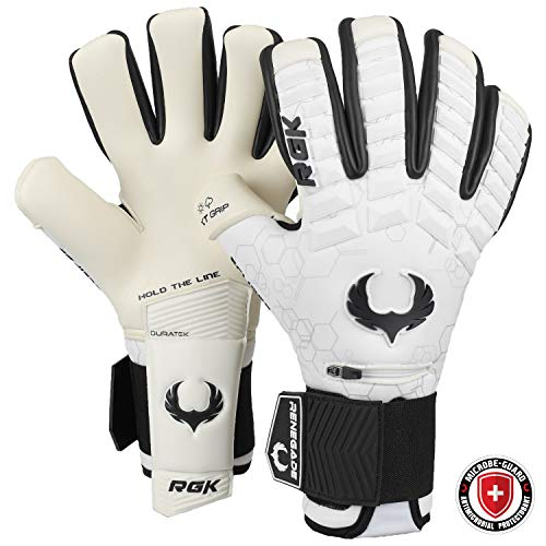 Renegade GK Eclipse Phantom Pro Torwarthandschuhe Finger Schutz| Microbe-Guard | 4mm EXT Contact Grip & Breathaprene | Torwarthandschuhe Fingersave Kinder (Größe 7, Jugend, Junior, Neg. Cut, Lvl 5)