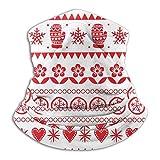 EOPRO Cuello Polaina Cara Cubierta Bufanda Transpirable Máscara Enfriamiento Bandana Invierno Arte Popular Navidad (1)