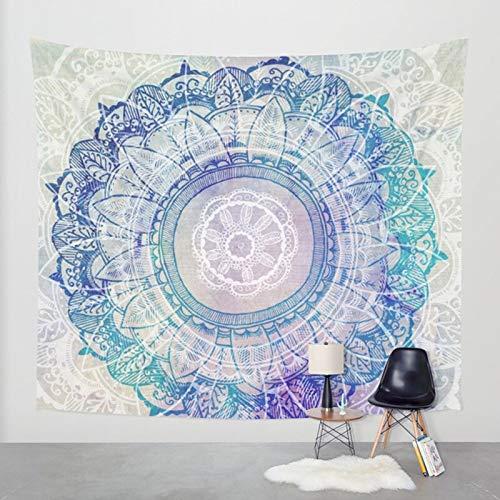 PPOU Mandala Decorativo Elefante Tapiz de Pared de Encaje Bohemio Manta de Pared Tela decoración del hogar Cortina Yoga Mat Fondo Pared A12 150x200cm