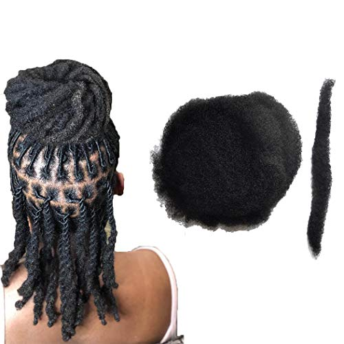 Yotchoi Tight Afro Kinky Human Hair,Ideal for Making or Repairing Permanent Dreadlocks,Twists and Braids 4 Bundles/Package Natural Black #1B 8inch/20.32cm