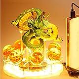 OPW Dragon Ball Night Light Son Goku Z Shenron Crystal Ball Ball Lamp Creative 3D PVC Figuras de acción Lámpara Luces de Escritorio USB Lámparas LED Toys Regalos,C
