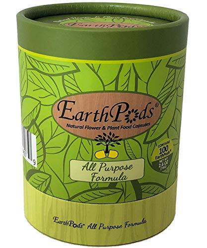 EarthPods Premium Indoor Plant Food – All Purpose (Great for Indoor Houseplants + Outdoor Container Flower Gardens, Ecofriendly)