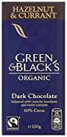 Green and Black's Organic Dark Chocolate Hazelnut and Currant 100 g (Pack of 5)