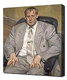 Man In Silver Suit - Lucian Freud - Art Leinwandbild - Kunstdrucke - Gemälde Wandbilder