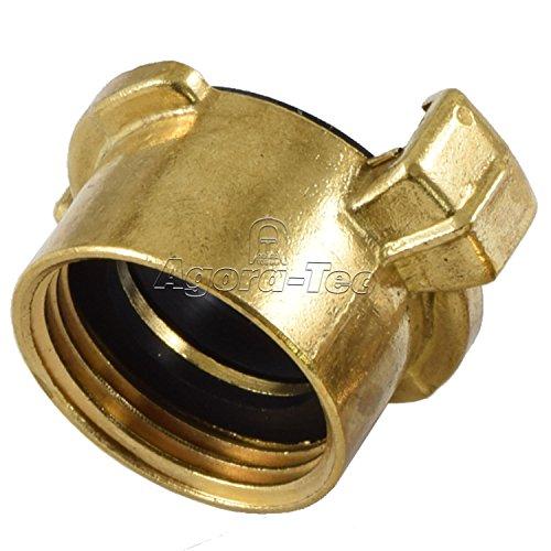 Preisvergleich Produktbild Agora-Tec® Messing Schnellkupplung mit 1 Zoll (30, 3 mm) Innengewinde inkl. Flachdichtung Kupplung mit Schnellverschluss