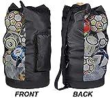 YEYUNTO Heavy Duty XL Soccer Mesh Equipment Ball Bag w/Adjustable Shoulder Strap...