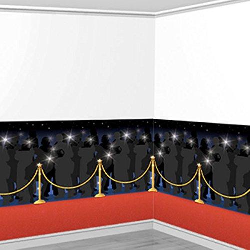 Amscan Hollywood Rood Tapijt Room Scene Setters (4 Rolls)