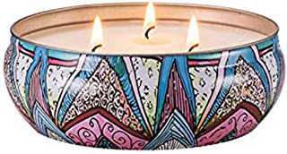 Niky Candle Scented Soy Wax 3 Wick Tin English Pear, 75 Hour Burn, Outdoor and Indoor …