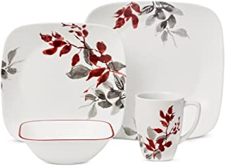 Corelle Boutique 42-Piece Dinnerware Set, Kyoto Leaves - Service for 8