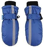SimpliKids Kids Winter Insulation Waterproof Snowboard Mittens,S,Navy