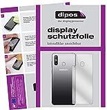 dipos I 2X Schutzfolie klar kompatibel mit Samsung Galaxy A8s Rückseite Folie Bildschirmschutzfolie (bewusst Kleiner als das Glas, da Dieses gewölbt ist)