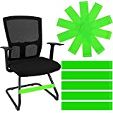 24 Pieces Chair Bands Green Exercise Bands Stretch Foot Band Fidget Chair Bands for Kids Focus Attention Exercise Students Rubber Band for Chairs