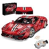 VIPO Technik Bausteine Auto für Ferrari 488 Pista, 3187 Teile 2.4G Ferngesteuertes Sportwagen Rennwagen Modell Kompatibel mit Lego Technic