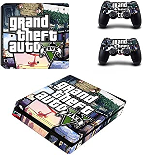 Playstation 4 Slim Skin Set – Real Life Game - HD Printing Vinyl Skin Cover Slimtective for PS4 Slim Console and 2 PS4 Controller by BALAKRISHNA THAKUR .