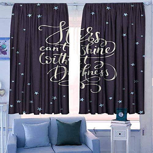 Lovii verduisteringsgordijnen voor slaapkamer voor slaapkamer&keuken&woonkamer inspirerende droom grote zin met dartbord pluizige wolken trap Optimistische houding Multi kleuren