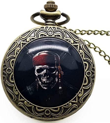 Taschenuhr Punk Skull Anhänger Uhr Death Design Taschenuhr Biker Skull Charm Schmuck Gothic Style Quarzuhr