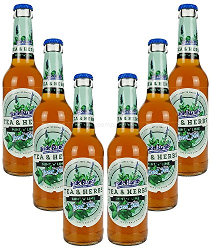 Trade Island Tea & Herbs Mint Lime Ice Tea ? Minz Limette Eistee ? 6x330ml = 1980ml - Inkl. Pfand MEHRWEG