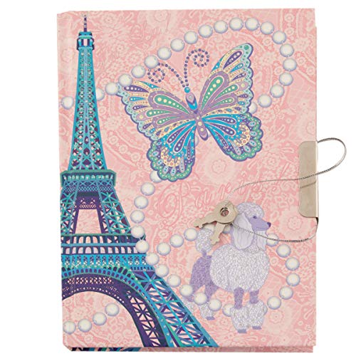 Babalu Girls Glitter Diary with Pen, for Girls, Teen and Tween Gifts, Journal with Lock and Key Secret Hardcover Notebook for Daily Journal Writing