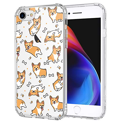 MOSNOVO iPhone SE 2020 Case, iPhone 8 Case, iPhone 7 Case, Cute Corgi Pattern Printed Clear Design Transparent Plastic Back Case with TPU Bumper Case Cover for iPhone 7 / iPhone 8 / iPhone SE 2020