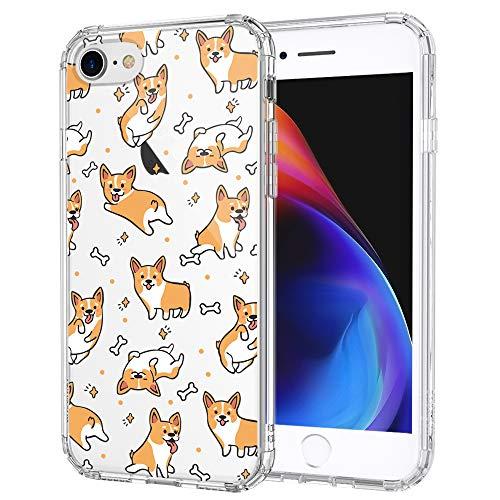MOSNOVO Cute Corgi Pattern Designed for iPhone SE 2020 Case/Designed for iPhone 8 Case/Designed for iPhone 7 Case - Clear