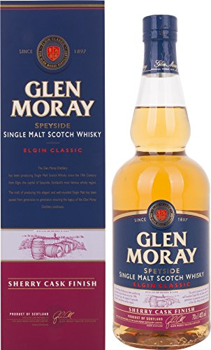 Glen Moray Elgin Classic Sherry Cask Single Malt Scotch Whisky in Gift Box...