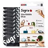 Sugru I000953 Multi-Purpose Glue for Creative Fixing and Making, 8-Pack, Black, 8 Piece