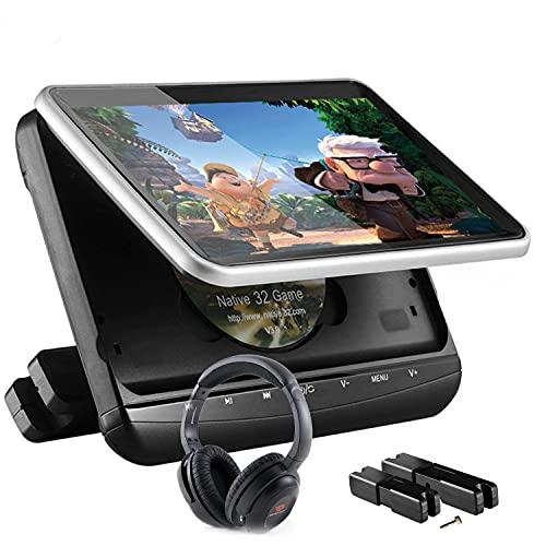 """MaSYZBF 10.1"""" DVD Portátil Coche Pantallas soporta Entrada HDMI para Reposacabezas, Reproductor de DVD para Niño Soporta SD/USB/CD/DVD Región Libre"""